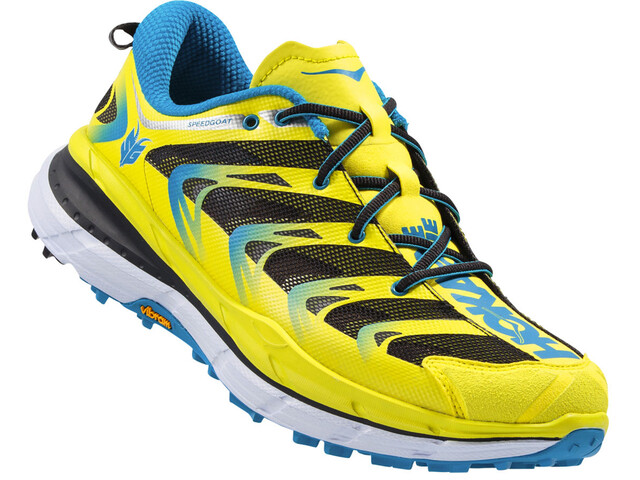 Hoka One One M's Speedgoat Shoes Citrus/Blue